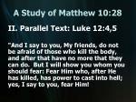 a study of matthew 10 288