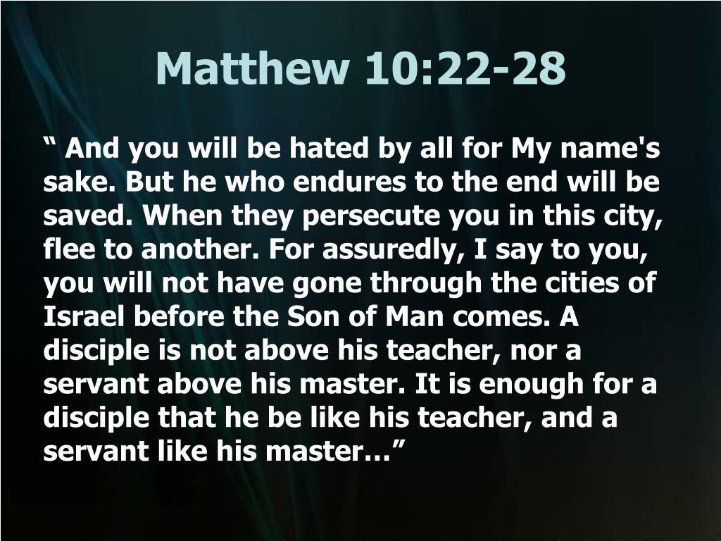 matthew 10 22 28