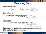 bounding error