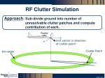rf clutter simulation