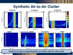 synthetic air to air clutter
