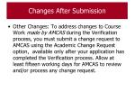changes after submission122