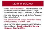 letters of evaluation90