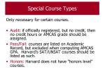 special course types60