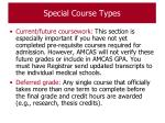 special course types61