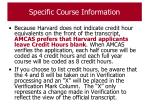 specific course information56