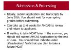 submission processing111