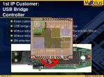1st ip customer usb bridge controller