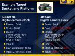 example target socket and platform