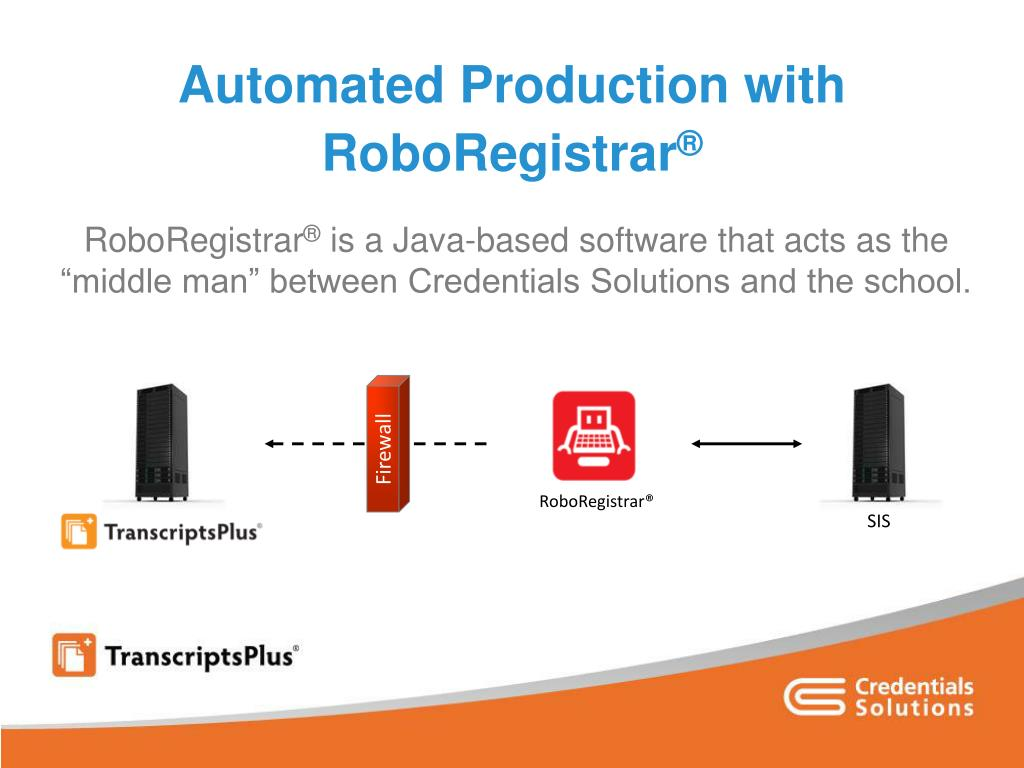 Automated Production with RoboRegistrar