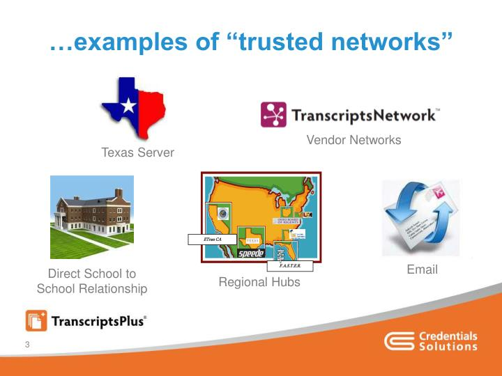 Examples of trusted networks