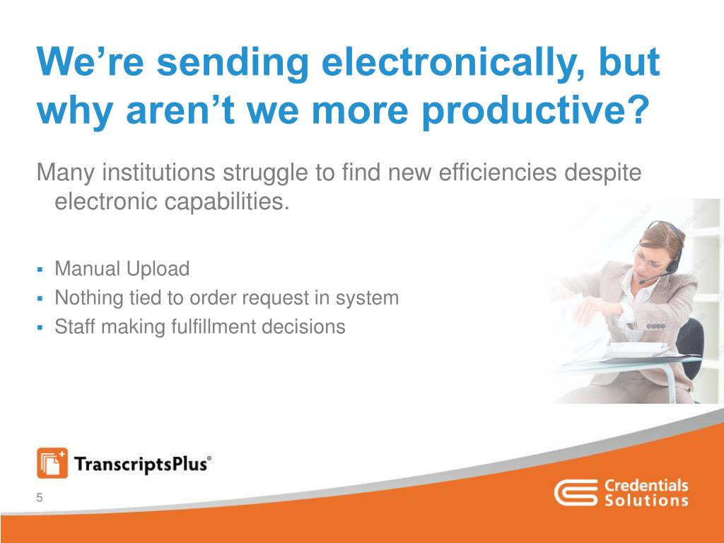 We're sending electronically, but why aren't we more productive?