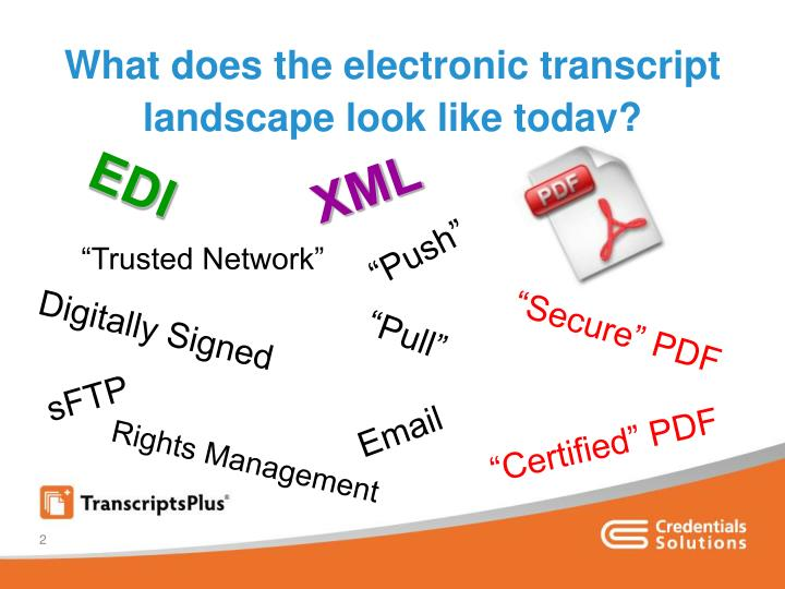 What does the electronic transcript landscape look like today
