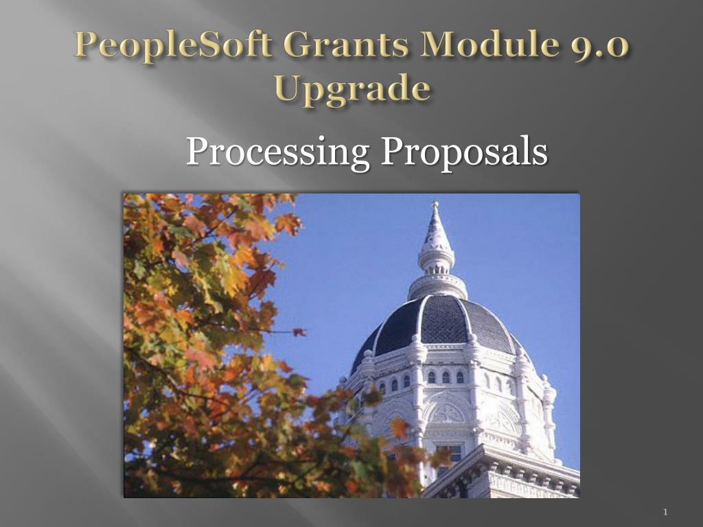 peoplesoft grants module 9 0 upgrade l.