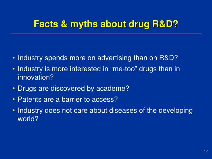 Facts & myths about drug R&D?