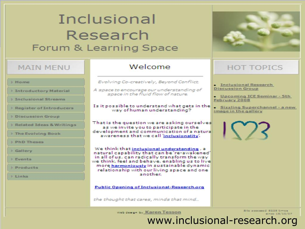 Inclusional Research Forum
