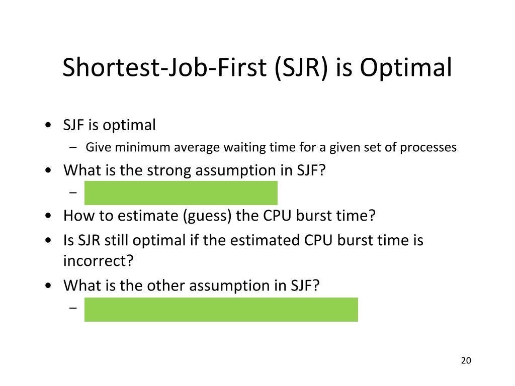 Shortest-Job-First (SJR) is Optimal
