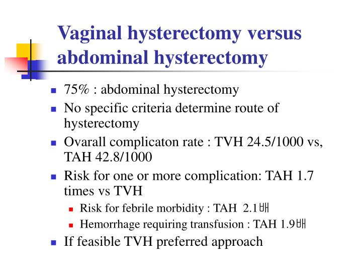 Vaginal hysterectomy ppt