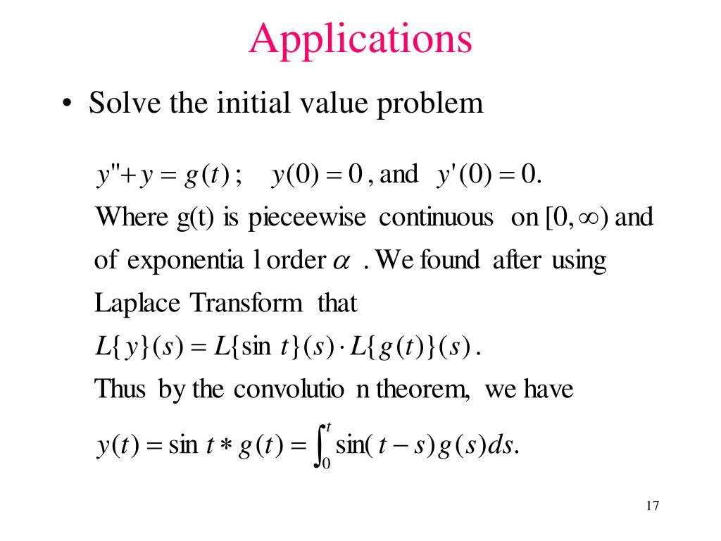 Solve the initial value problem