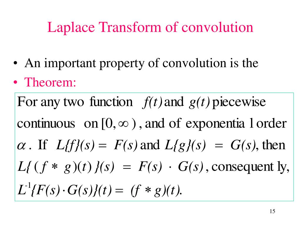 An important property of convolution is the
