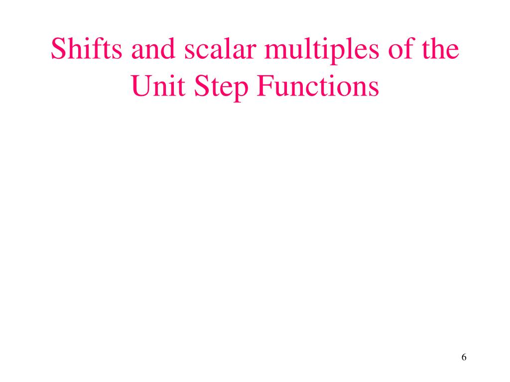 Shifts and scalar multiples of the Unit Step Functions