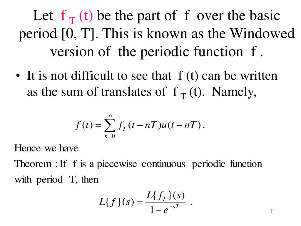 It is not difficult to see that  f (t) can be written as the sum of translates of  f