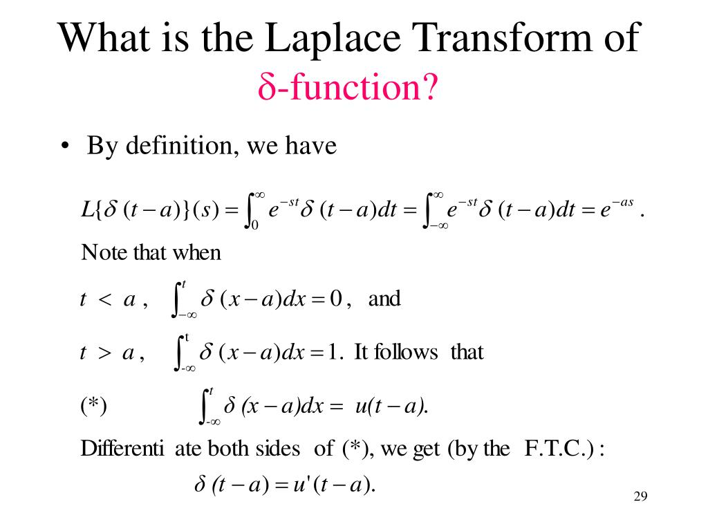 What is the Laplace Transform of