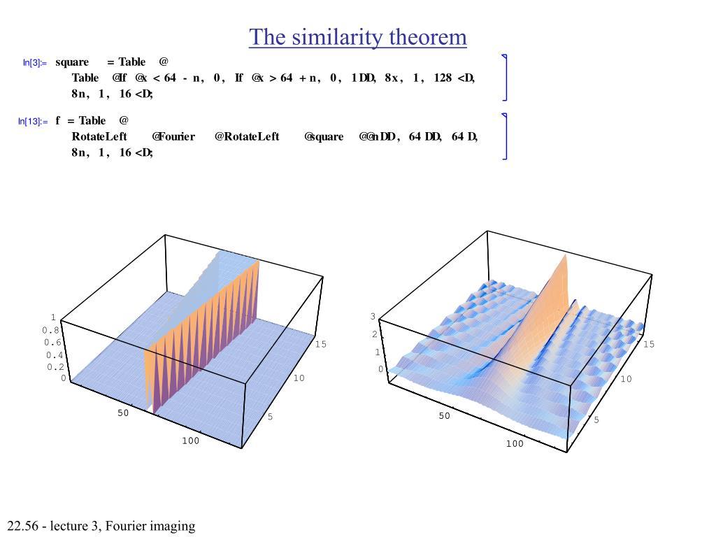 The similarity theorem