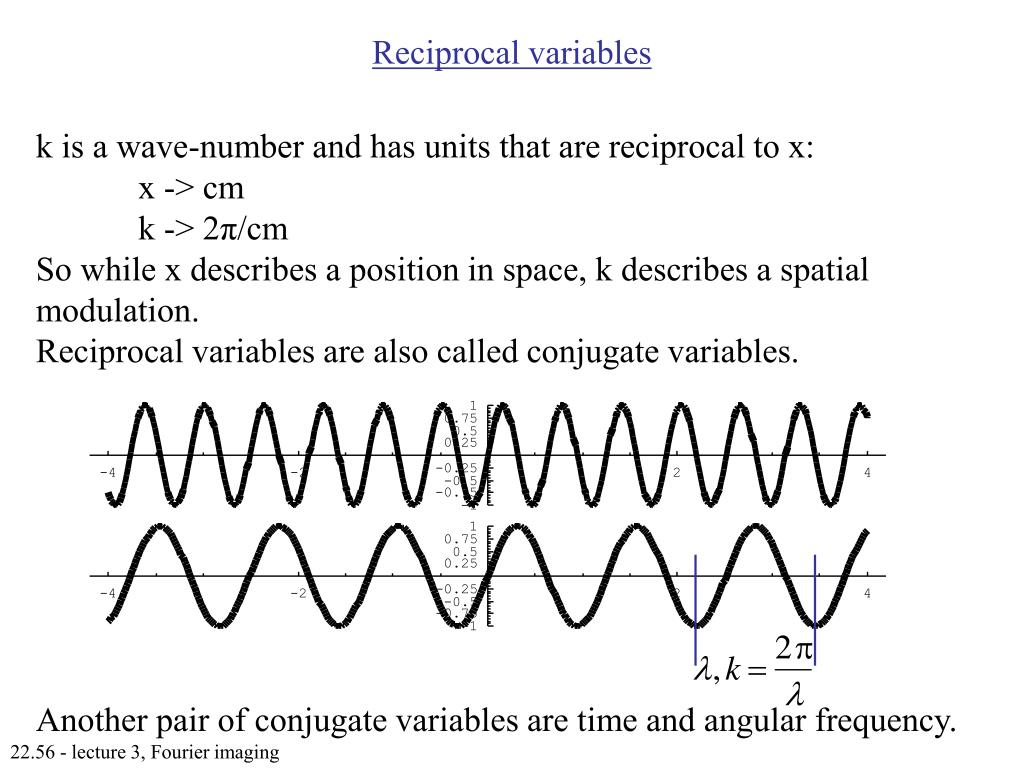 Reciprocal variables