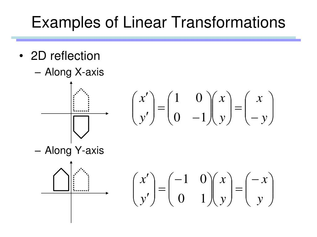 Examples of Linear Transformations
