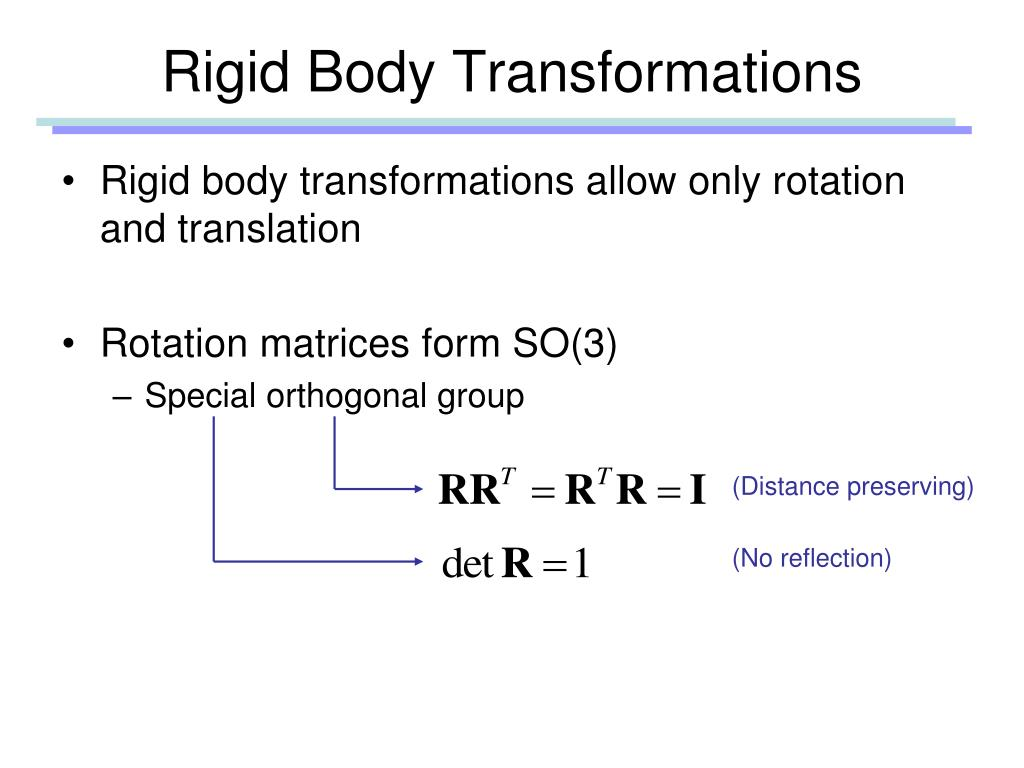 Rigid Body Transformations