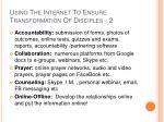 using the internet to ensure transformation of disciples 2