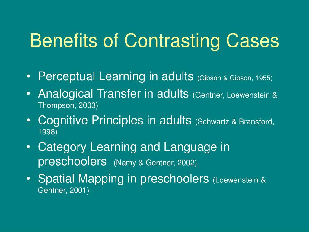 Benefits of Contrasting Cases