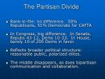 the partisan divide