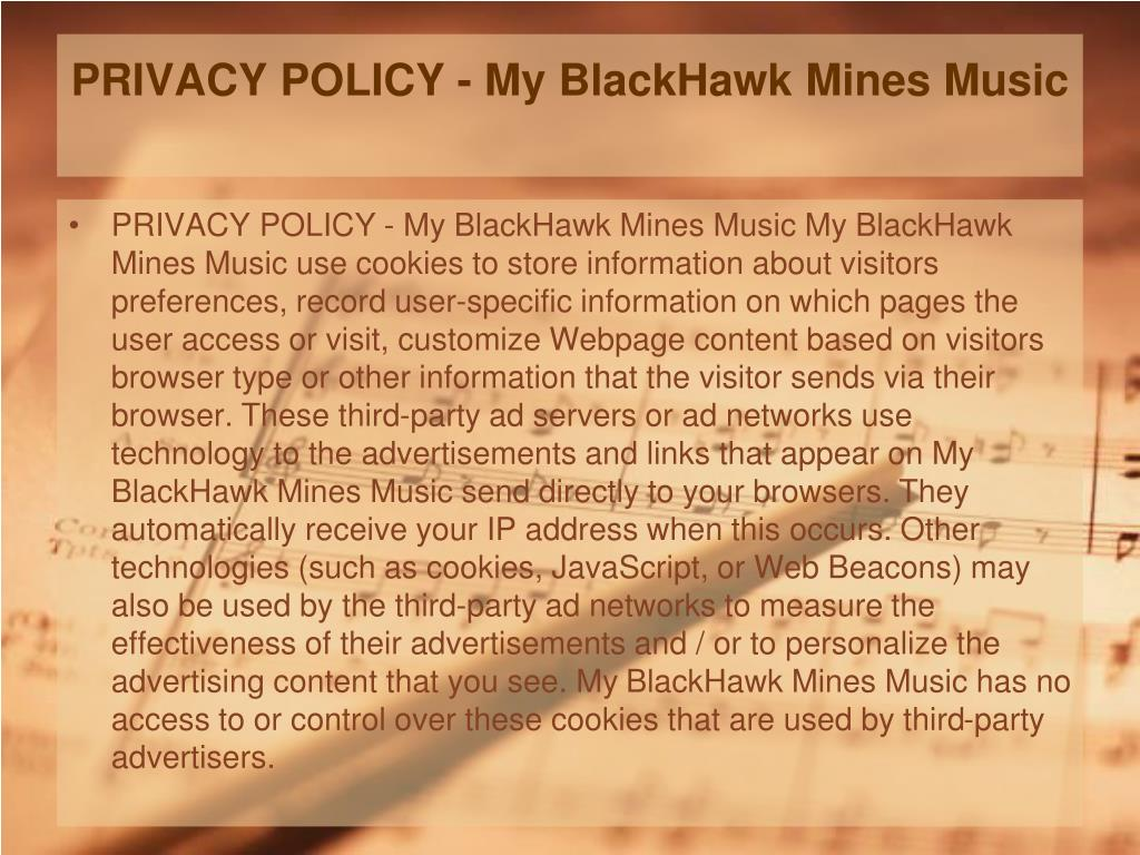 PRIVACY POLICY - My