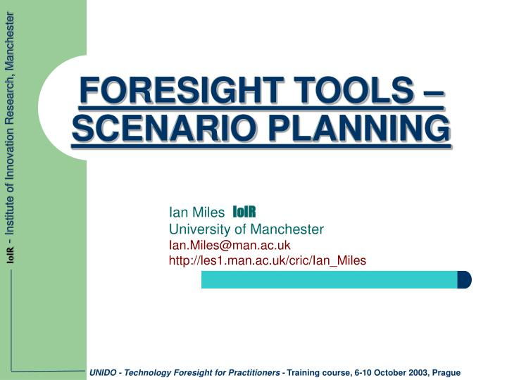 Foresight tools scenario planning