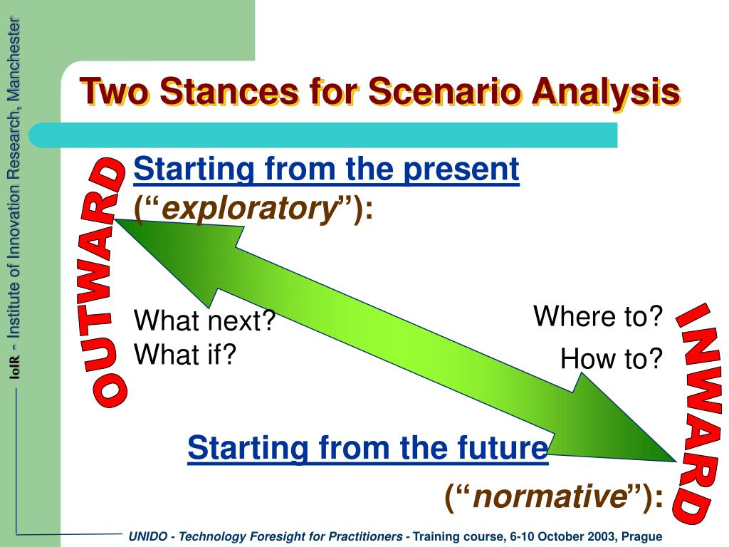 Two Stances for Scenario Analysis