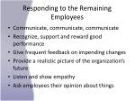 responding to the remaining employees