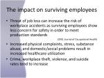 the impact on surviving employees