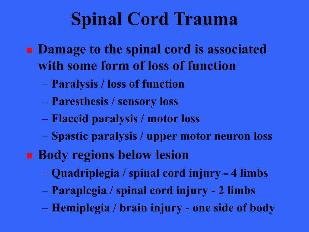 Spinal Cord Trauma