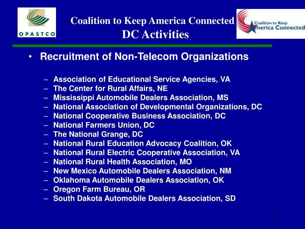 Recruitment of Non-Telecom Organizations