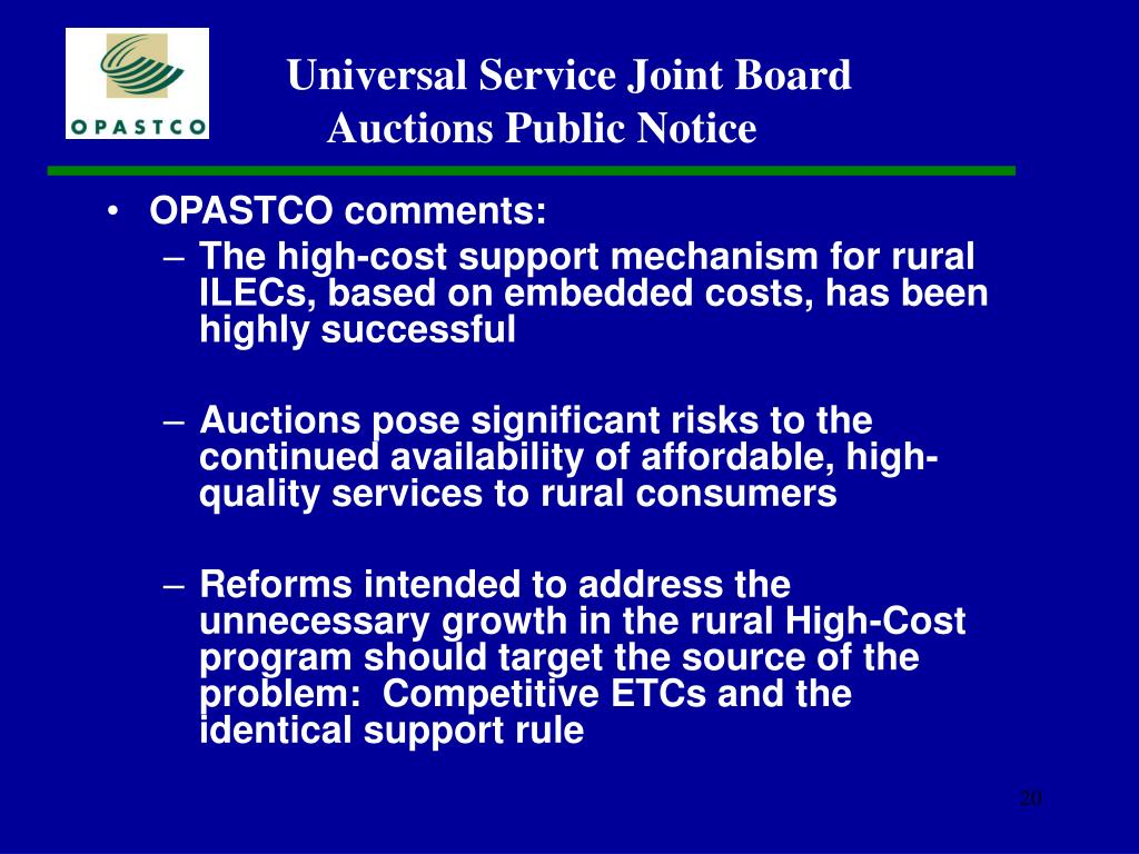 OPASTCO comments: