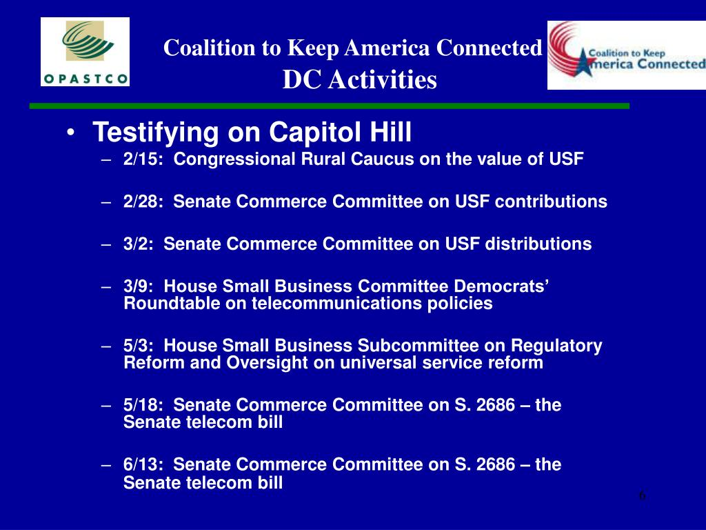 Testifying on Capitol Hill