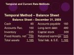temporal and current rate methods35