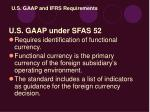u s gaap and ifrs requirements
