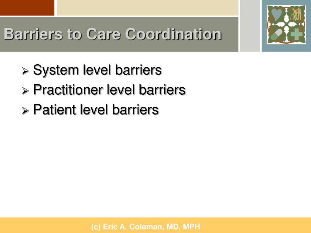 Barriers to Care Coordination