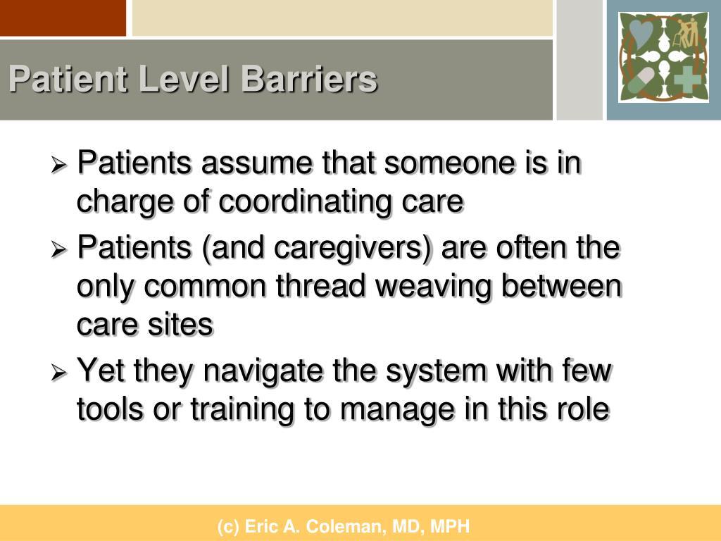 Patient Level Barriers