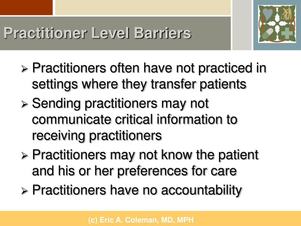 Practitioner Level Barriers