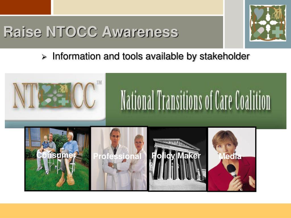 Raise NTOCC Awareness