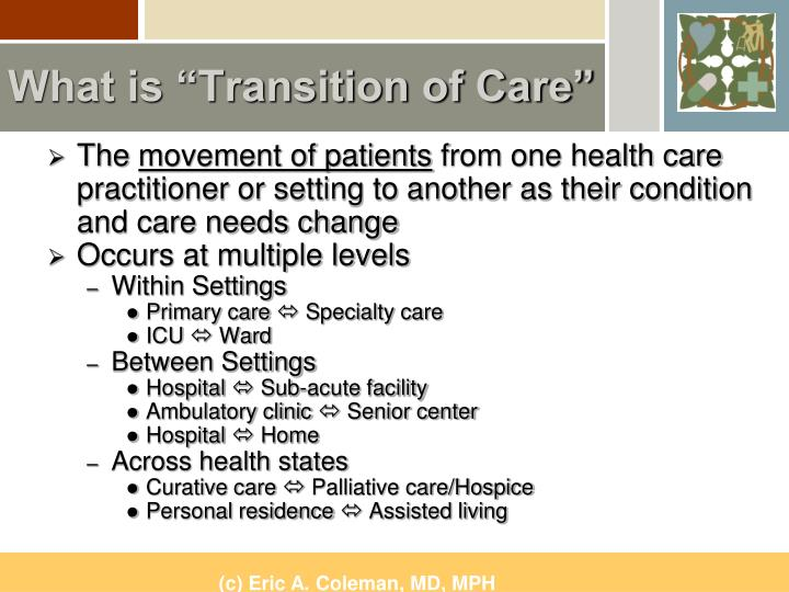 What is transition of care